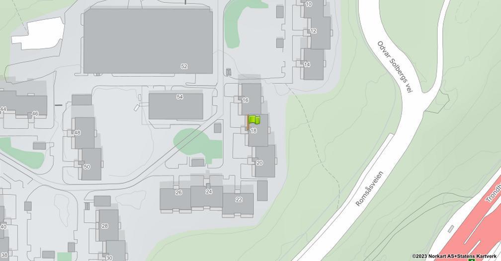 Kart sentrert på geolokasjonen 59.9637295475496 breddegrad, 10.8982644875294 lengdegrad