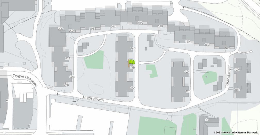Kart sentrert på geolokasjonen 59.9412910393951 breddegrad, 10.9002753359378 lengdegrad