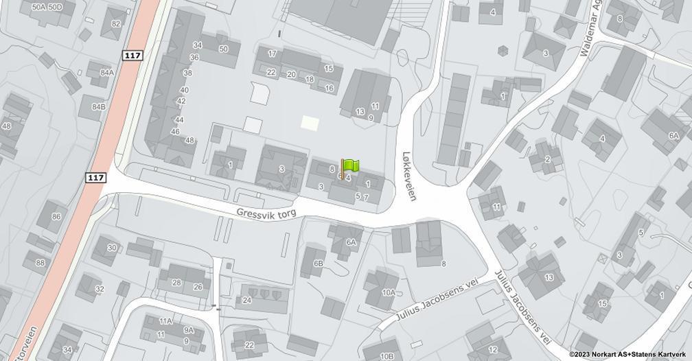 Kart sentrert på geolokasjonen 59.2158897467843 breddegrad, 10.9060649357417 lengdegrad