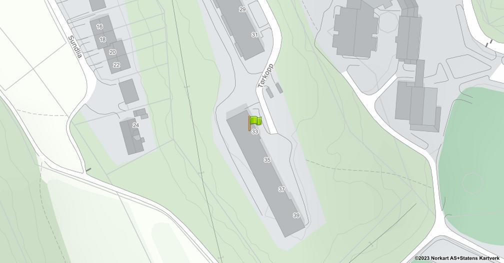 Kart sentrert på geolokasjonen 59.1943356567098 breddegrad, 10.908768183743 lengdegrad