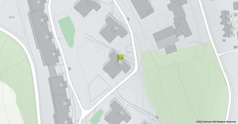 Kart sentrert på geolokasjonen 59.9367232797448 breddegrad, 10.9099479386221 lengdegrad