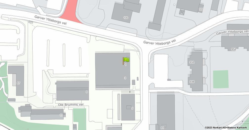 Kart sentrert på geolokasjonen 59.95225524902344 breddegrad, 10.910780906677246 lengdegrad
