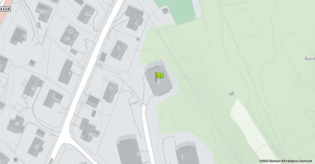 Kart sentrert på geolokasjonen 59.1981832978044 breddegrad, 10.9109823701745 lengdegrad