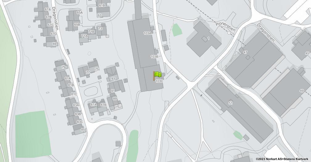 Kart sentrert på geolokasjonen 59.9361720200091 breddegrad, 10.9145162312978 lengdegrad