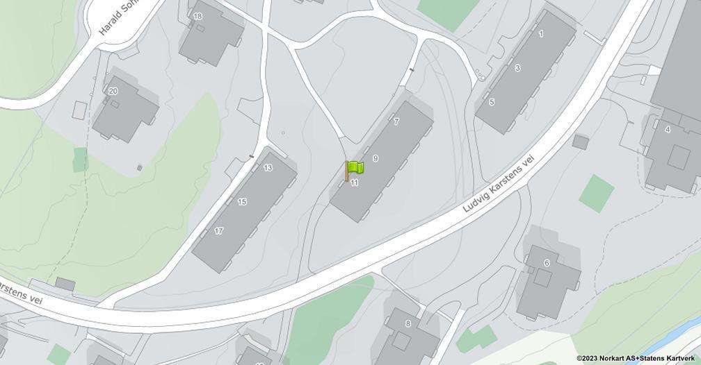 Kart sentrert på geolokasjonen 59.9342791838578 breddegrad, 10.9229980760596 lengdegrad