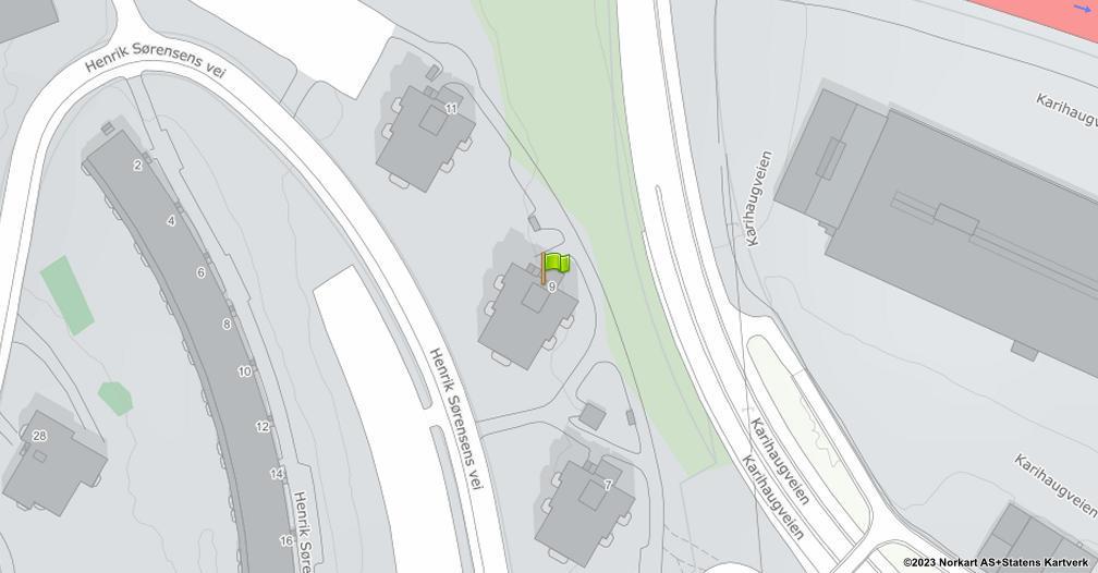 Kart sentrert på geolokasjonen 59.9385023406613 breddegrad, 10.9247301450599 lengdegrad