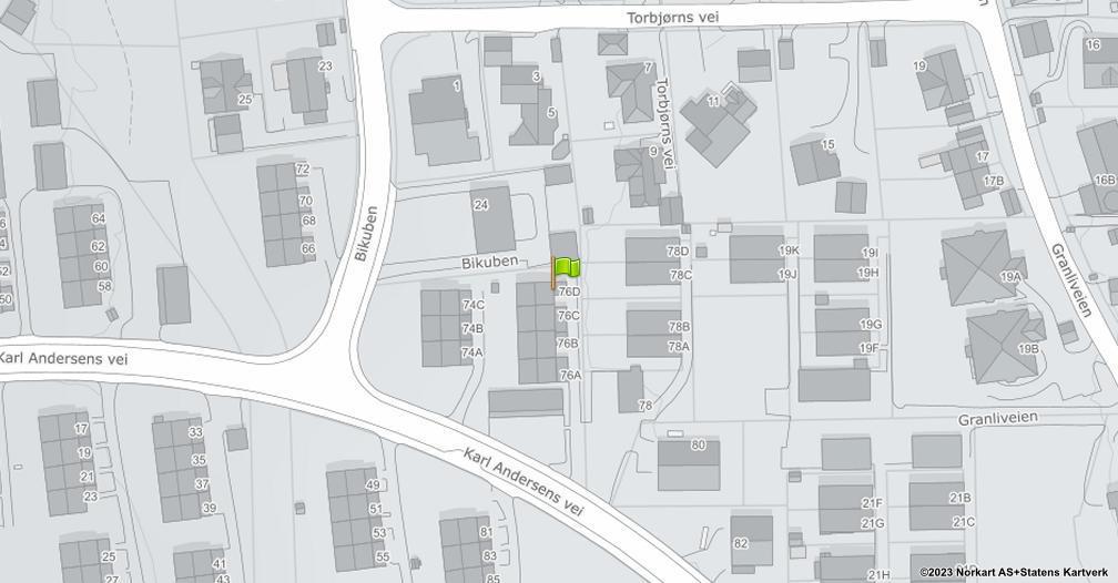 Kart sentrert på geolokasjonen 59.9421064662778 breddegrad, 10.9257965929975 lengdegrad