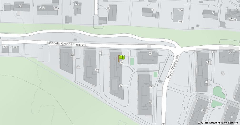 Kart sentrert på geolokasjonen 59.9290521107845 breddegrad, 10.9425804991054 lengdegrad