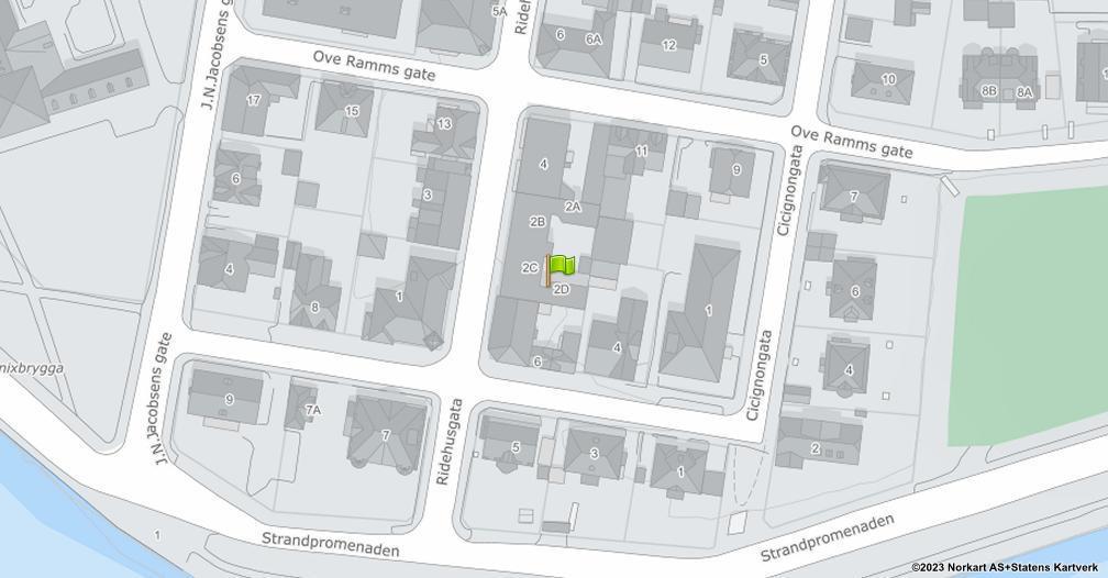 Kart sentrert på geolokasjonen 59.2055434227346 breddegrad, 10.9443944267336 lengdegrad