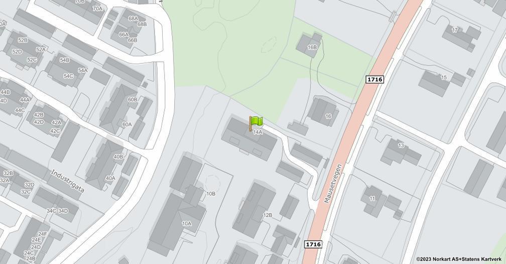 Kart sentrert på geolokasjonen 60.8884524775964 breddegrad, 10.948539173765 lengdegrad