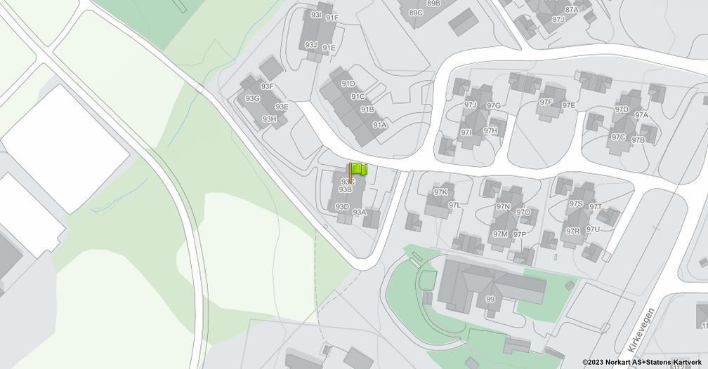 Kart sentrert på geolokasjonen 60.8826366869344 breddegrad, 10.9532334443762 lengdegrad
