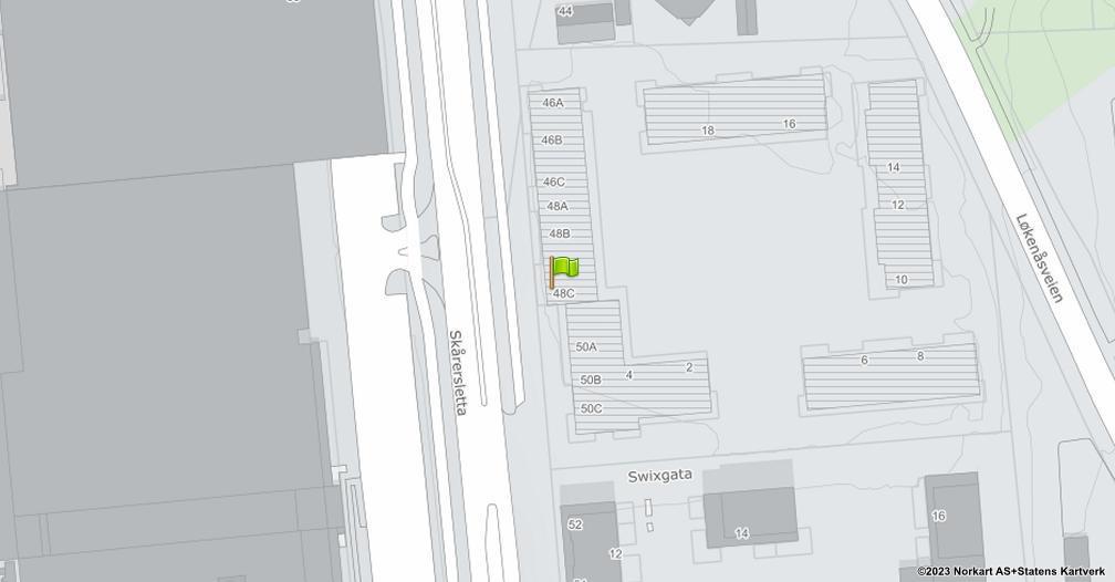 Kart sentrert på geolokasjonen 59.922732 breddegrad, 10.954797 lengdegrad