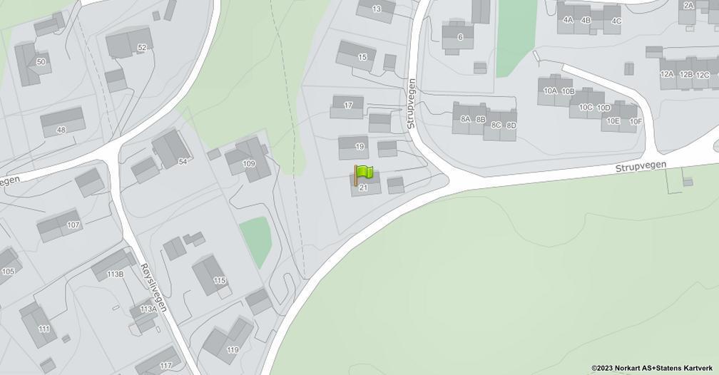 Kart sentrert på geolokasjonen 60.9045061676041 breddegrad, 10.9624081885827 lengdegrad
