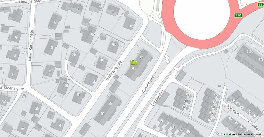 Kart sentrert på geolokasjonen 59.2061236880098 breddegrad, 10.9677500471908 lengdegrad