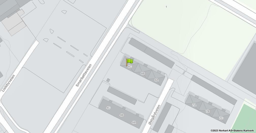 Kart sentrert på geolokasjonen 59.2396220474942 breddegrad, 10.9765560705056 lengdegrad