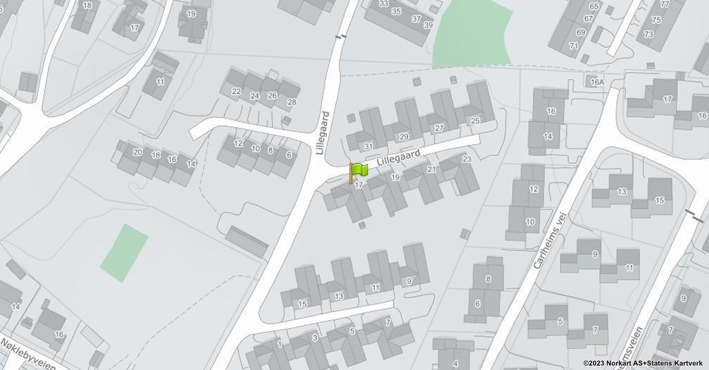 Kart sentrert på geolokasjonen 59.2352006635697 breddegrad, 10.9845674207438 lengdegrad