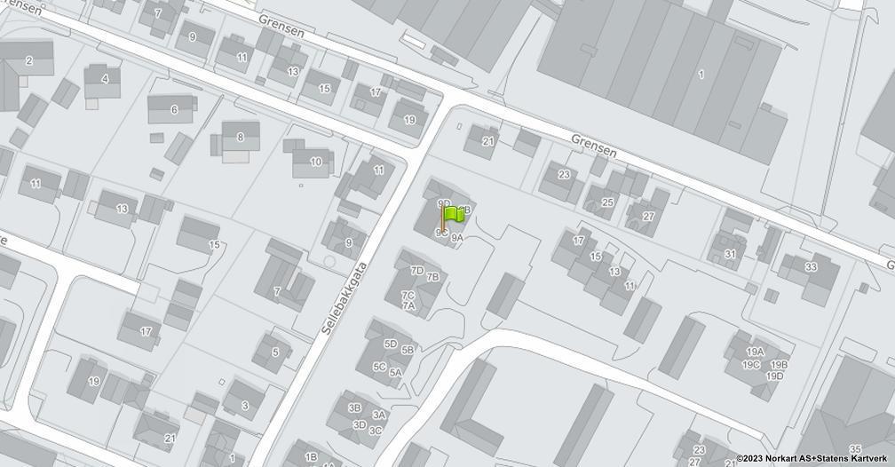 Kart sentrert på geolokasjonen 59.2257857448363 breddegrad, 10.9924329467117 lengdegrad