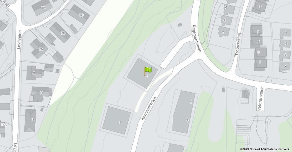 Kart sentrert på geolokasjonen 59.2084130932535 breddegrad, 10.9962024720697 lengdegrad