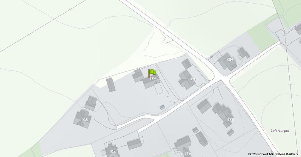 Kart sentrert på geolokasjonen 60.8361428172201 breddegrad, 11.0056702463599 lengdegrad