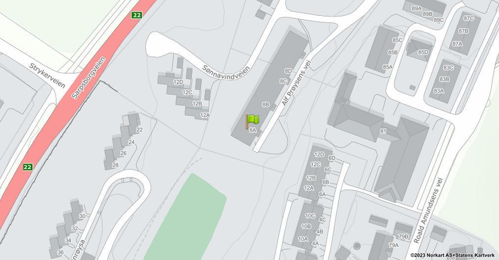 Kart sentrert på geolokasjonen 59.2347114757353 breddegrad, 11.0064117901226 lengdegrad