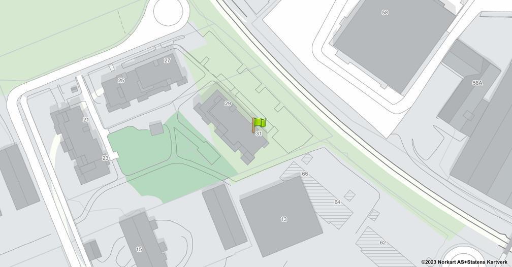 Kart sentrert på geolokasjonen 60.8011726253454 breddegrad, 11.0338996903058 lengdegrad