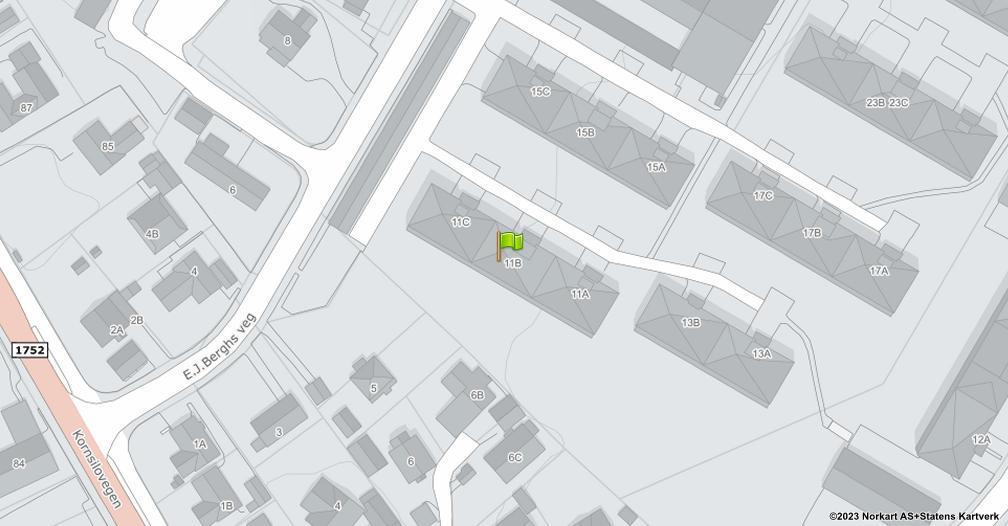 Kart sentrert på geolokasjonen 60.8045924062591 breddegrad, 11.0355155866019 lengdegrad