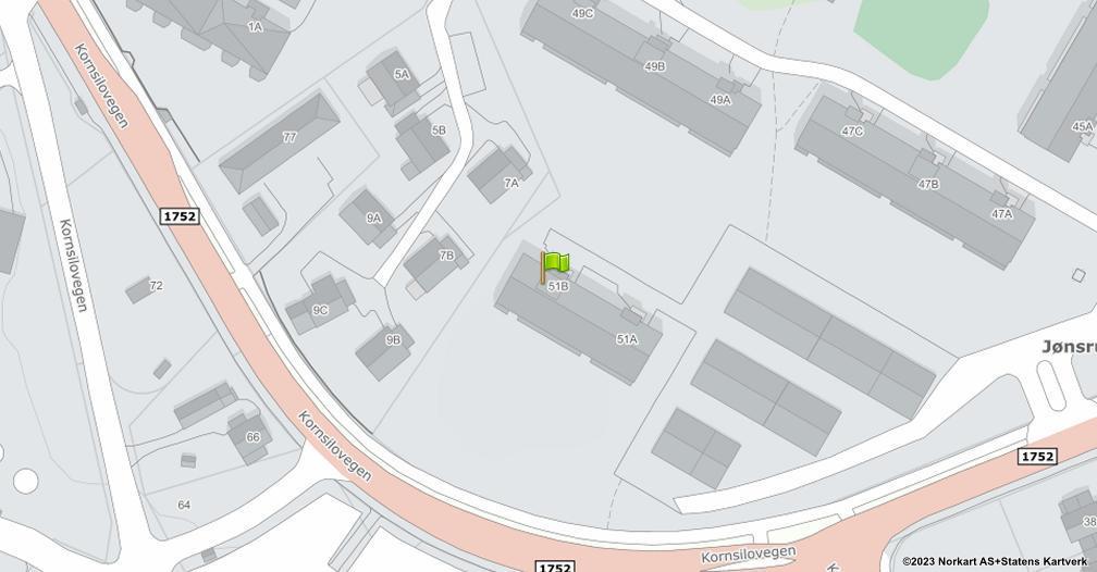 Kart sentrert på geolokasjonen 60.802744195184 breddegrad, 11.0365746335202 lengdegrad