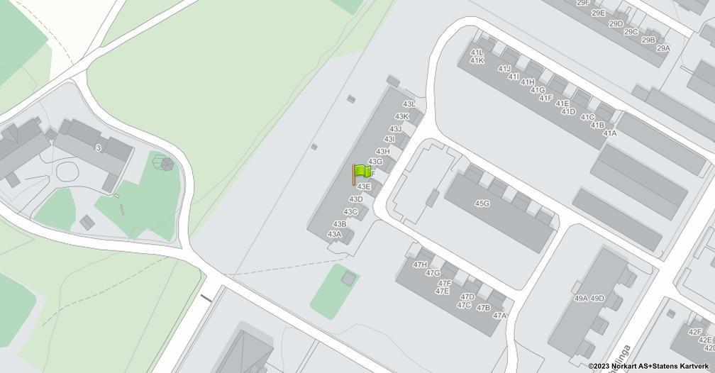 Kart sentrert på geolokasjonen 60.8067260894748 breddegrad, 11.0375446116263 lengdegrad