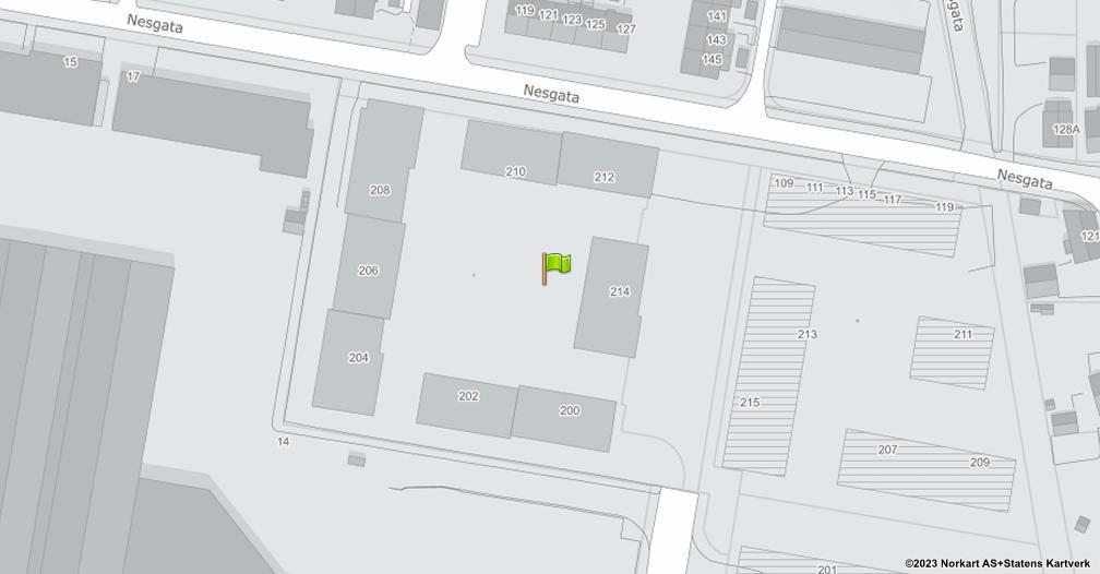 Kart sentrert på geolokasjonen 59.951254 breddegrad, 11.057481 lengdegrad