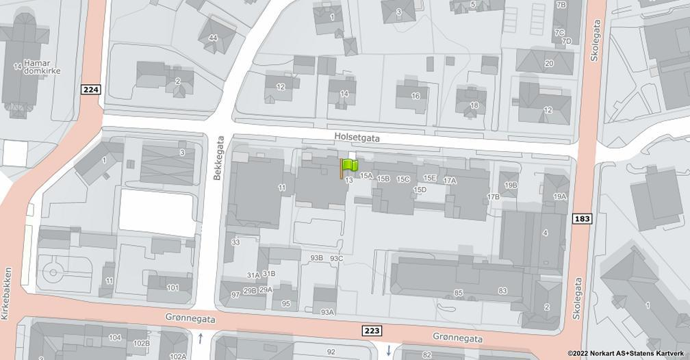 Kart sentrert på geolokasjonen 60.7963031009279 breddegrad, 11.0707341255414 lengdegrad