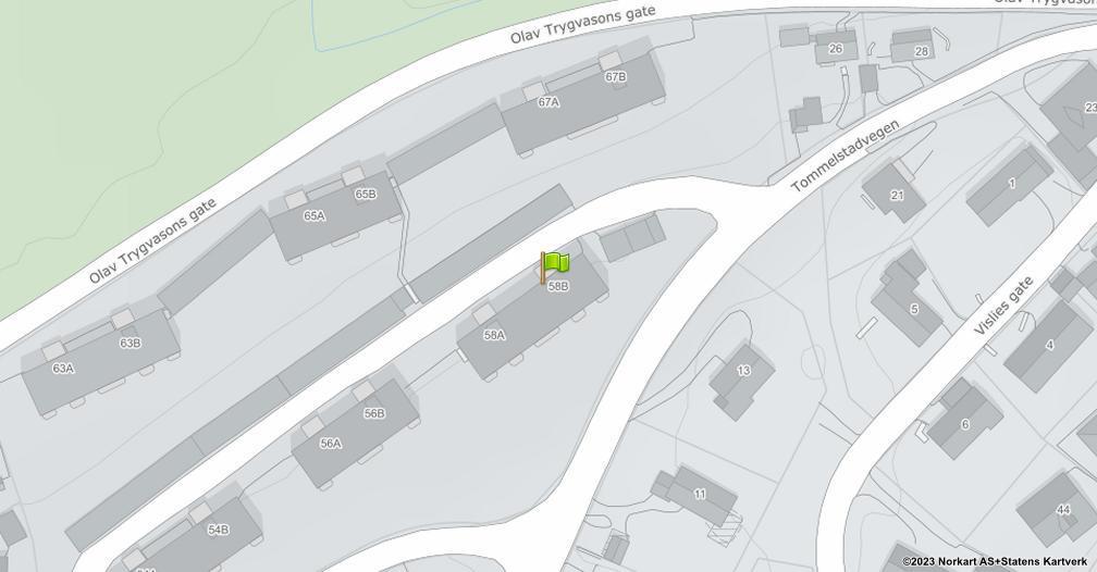 Kart sentrert på geolokasjonen 60.8085917109302 breddegrad, 11.0752418584431 lengdegrad