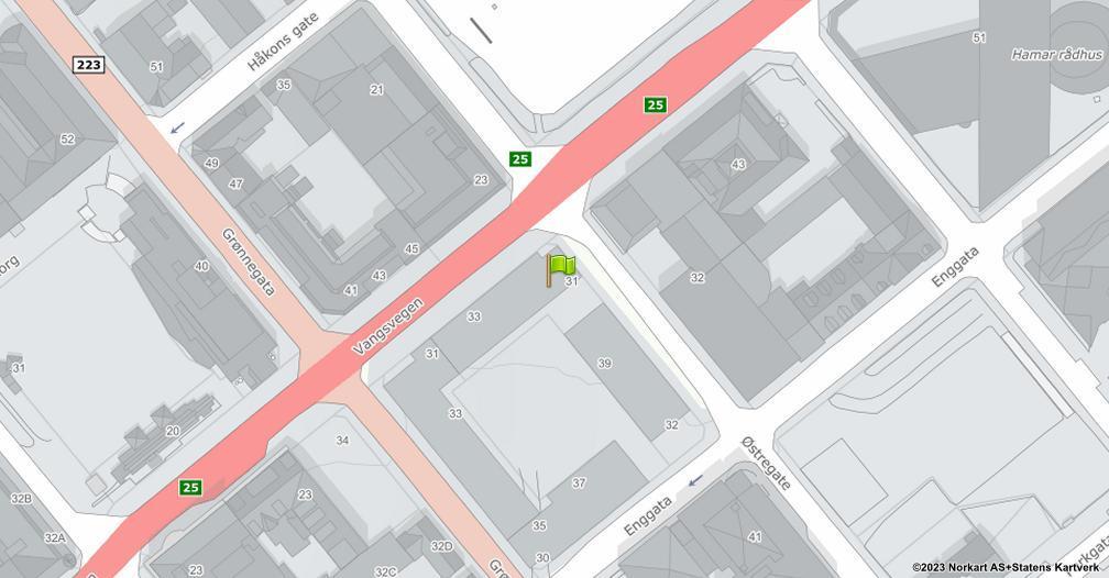 Kart sentrert på geolokasjonen 60.7938966551876 breddegrad, 11.0765143449894 lengdegrad