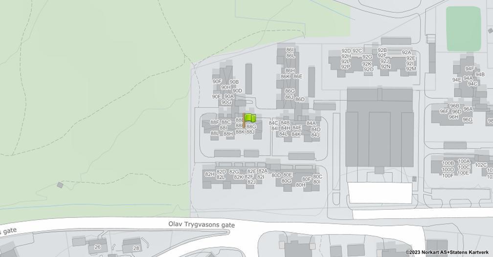 Kart sentrert på geolokasjonen 60.8097421225802 breddegrad, 11.07815142138 lengdegrad