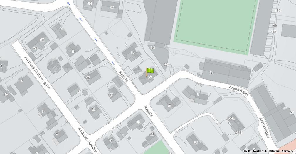 Kart sentrert på geolokasjonen 60.7948914784623 breddegrad, 11.0911151017378 lengdegrad
