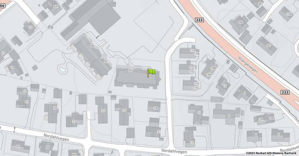Kart sentrert på geolokasjonen 60.7722668886697 breddegrad, 11.1163609492435 lengdegrad