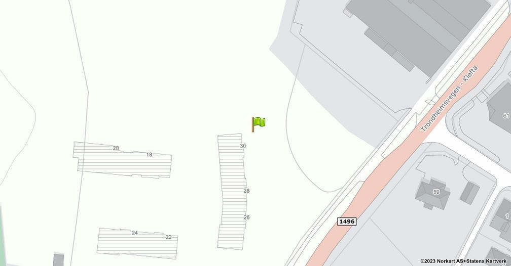 Kart sentrert på geolokasjonen 60.072056 breddegrad, 11.134083 lengdegrad